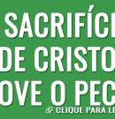O sacrifício de Cristo remove o pecado