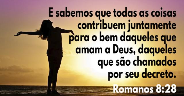 E sabemos que todas as coisas contribuem juntamente para o bem daqueles que amam a Deus, daqueles que são chamados por seu decreto