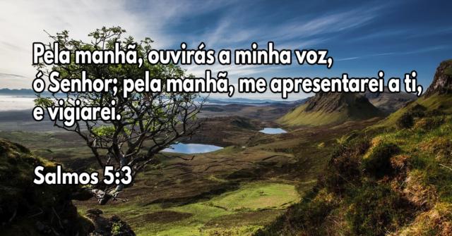 Pela manhã, ouvirás a minha voz, ó Senhor; pela manhã, me apresentarei a ti, e vigiarei