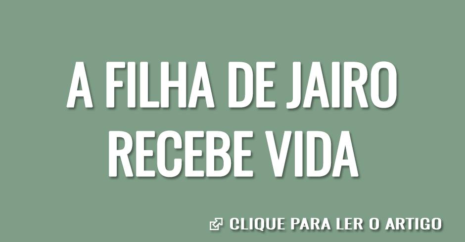 A FILHA DE JAIRO RECEBE VIDA