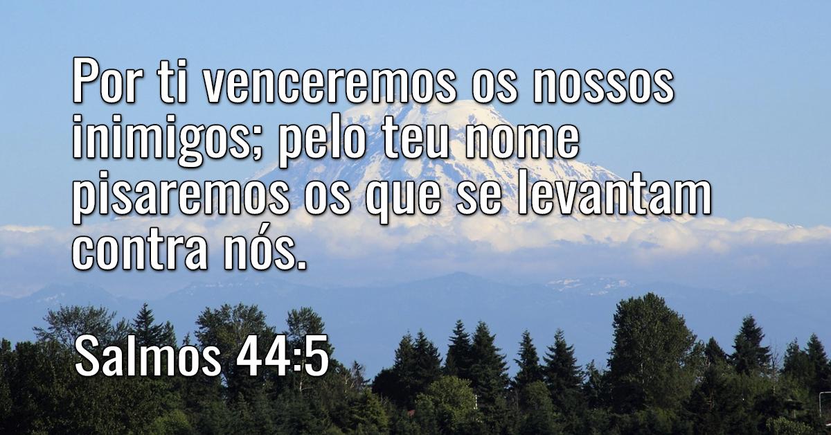 Por ti venceremos os nossos inimigos; pelo teu nome pisaremos os que se levantam contra nós