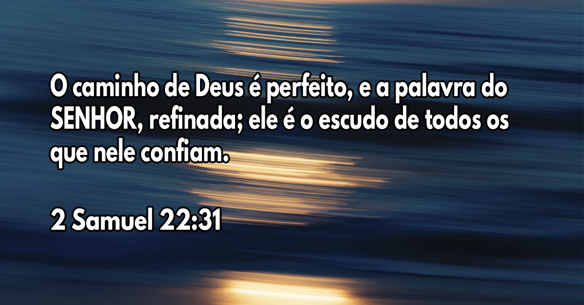 O caminho de Deus é perfeito, e a palavra do SENHOR, refinada; ele é o escudo de todos os que nele confiam