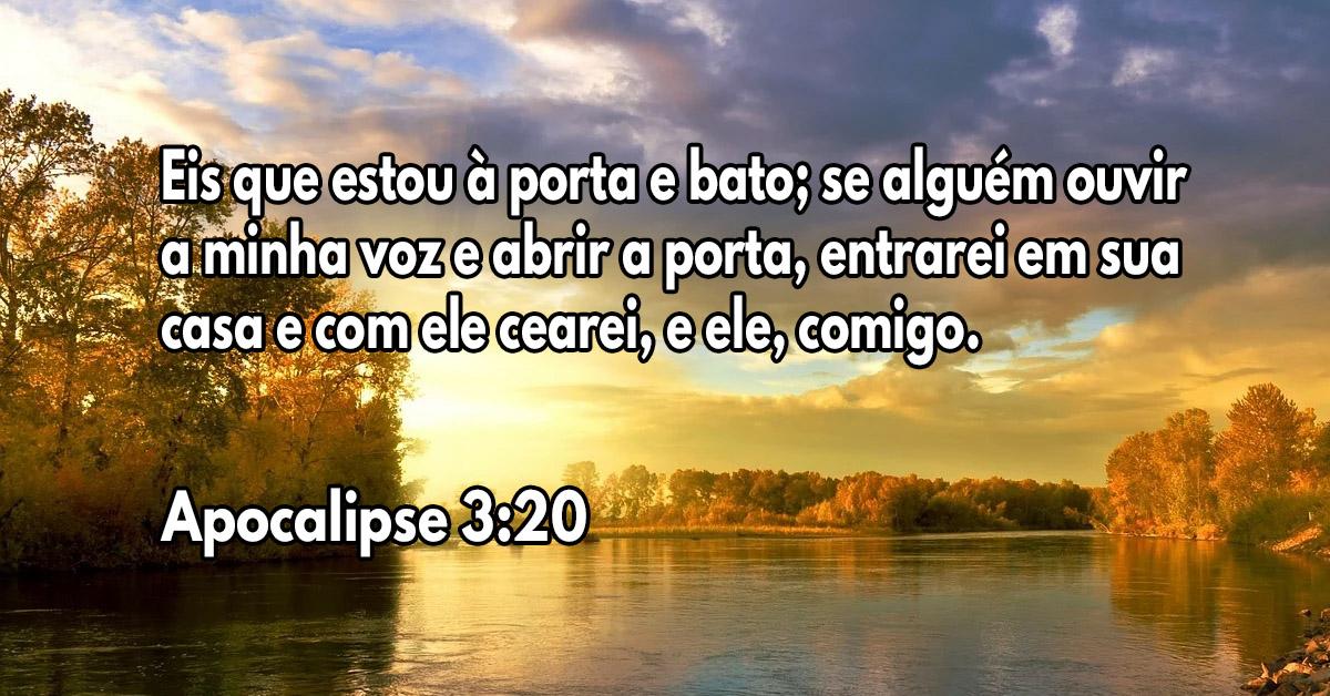 Deus está batendo na porta do seu coração, abra e Ele entrará